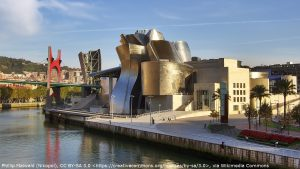 The Guggenheim museum in Bilbao, which appears in the pre-title sequence of The World is Not Enough