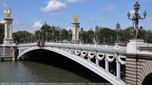 Pont Alexandre III Bridge in Paris which appears in A View To A Kill