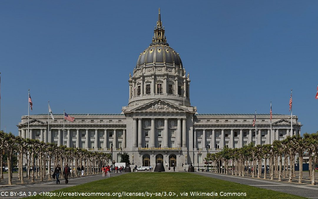 San Francisco City Hall which appears in A View To A Kill