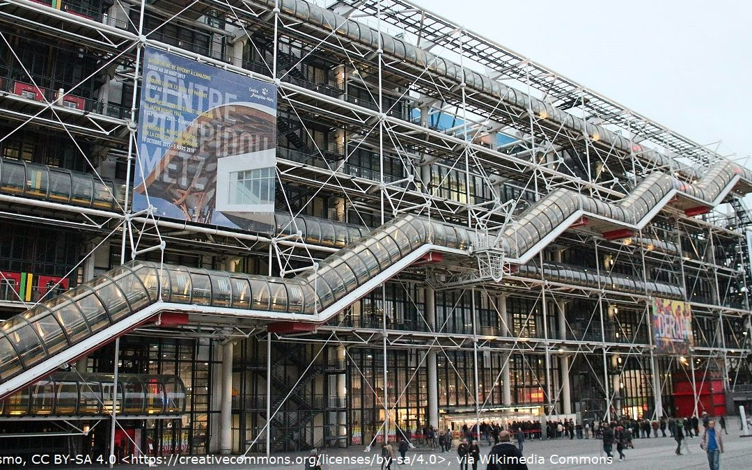 The Pompidou Centre in Paris, which appears as Drax's laboratiories in Moonraker